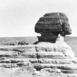 Wanderwell vehicle No. 2 parked on the back of the Sphinx, preparing camp - Egypt, 1924.