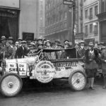 Aloha and other crewmembers arriving in New York City after their African adventure. - 1929